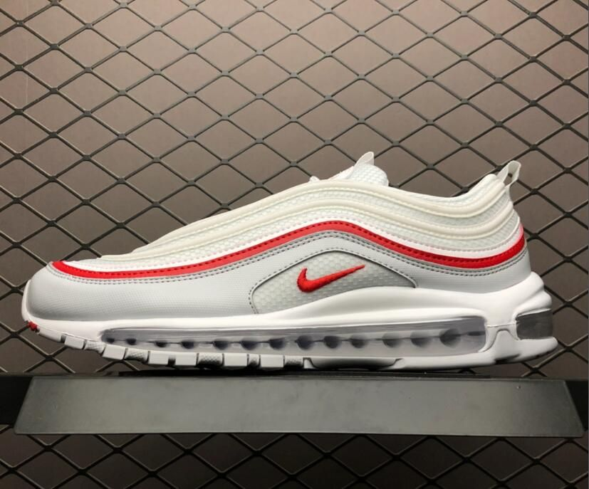 2018 Nike Air Max 97 Shoes White Red AR5531 002 For Sale