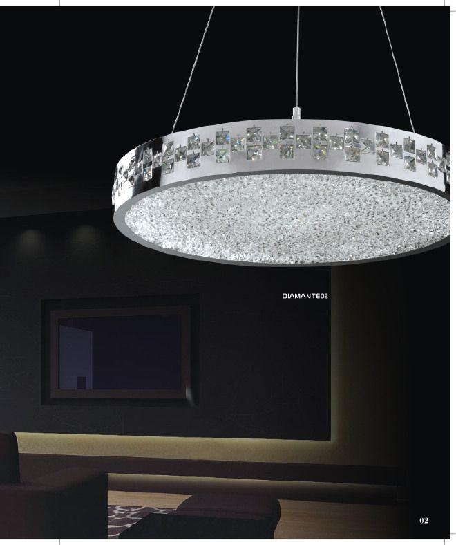 Lampadario led collezione diamante 02 di g m lampadari for Lampadari a led per interni
