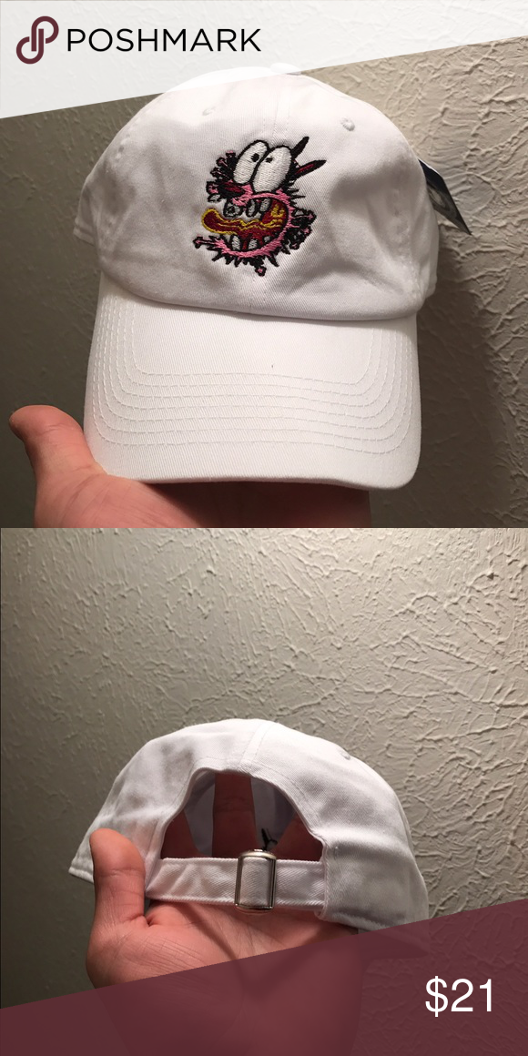 Courage the dog Dad Hats Strapback Caps 100% cotton high quality caps  Courage the cowardly dog Color  White - Shipped Via USPS 3-4 Days with  Tracking. b0bfb2a8da8b