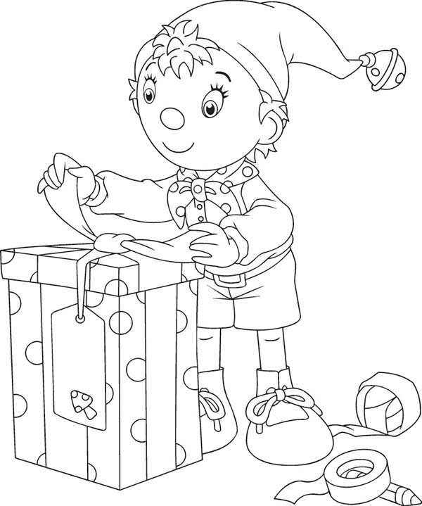 Noddy Open Big Box Present Coloring Pages Bulk Color Christmas Present Coloring Pages Kindergarten Coloring Pages Christmas Coloring Pages