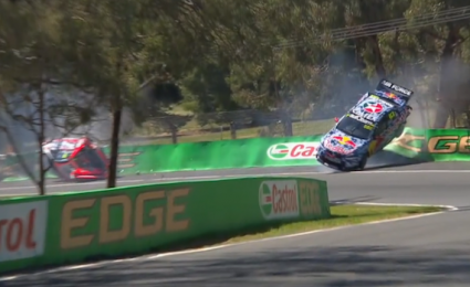 Major Crash For Luff And Lowndes In Practice 6 Australian Cars Bathurst Auto