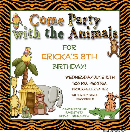 Zoo Invitation Templates