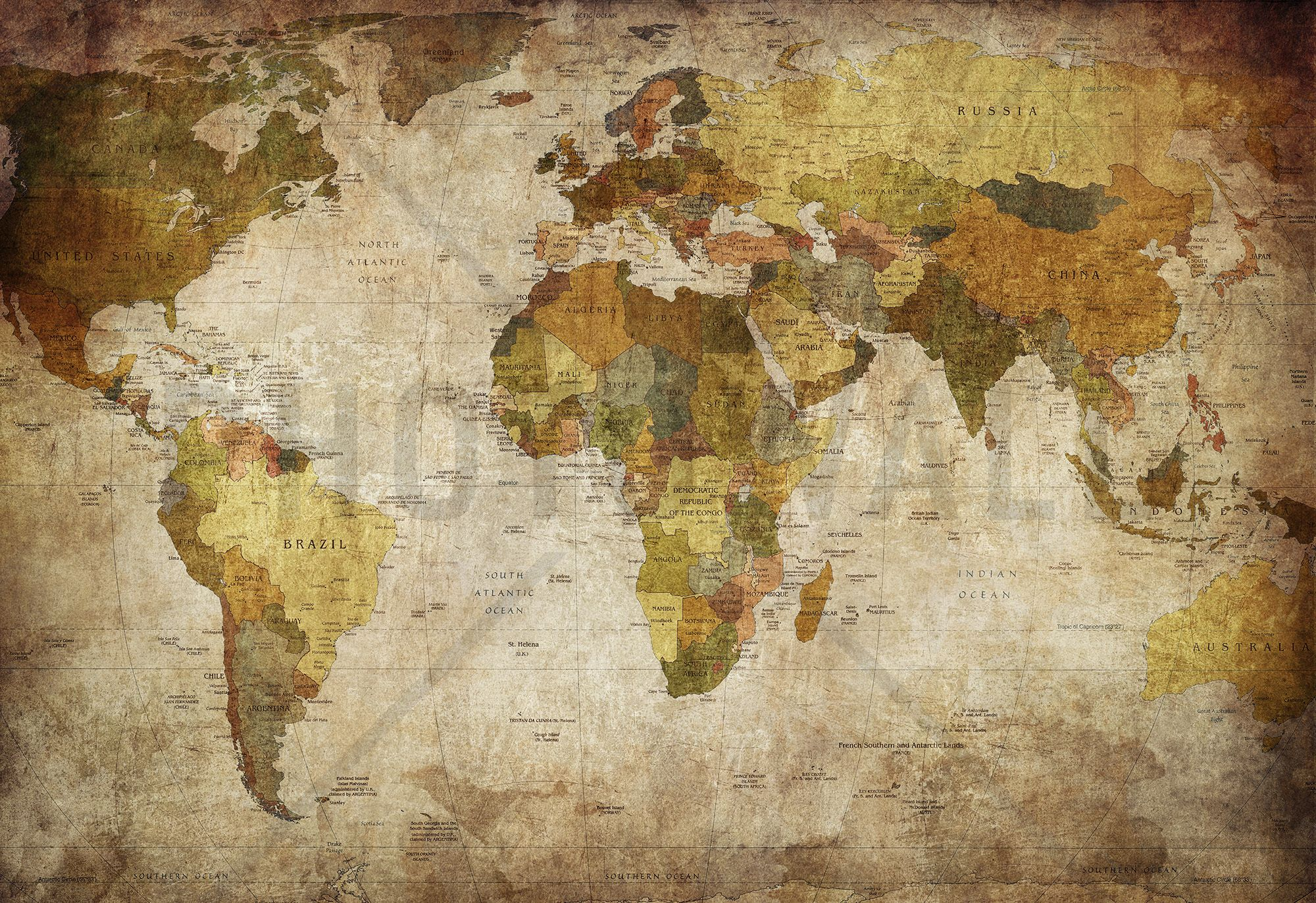 Old vintage world map wall mural photo wallpaper photowall old vintage world map wall mural photo wallpaper photowall gumiabroncs Images