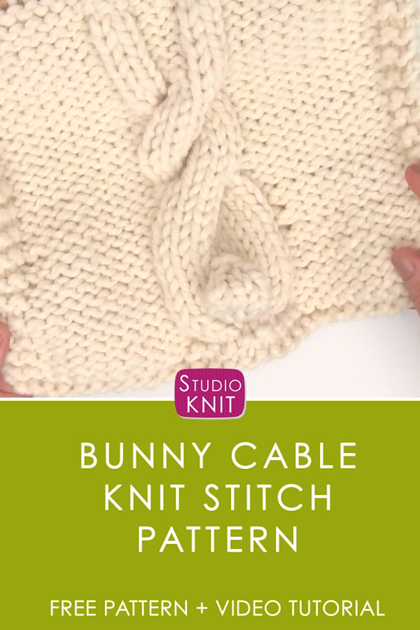 Easy Bunny Cable Knitting Pattern