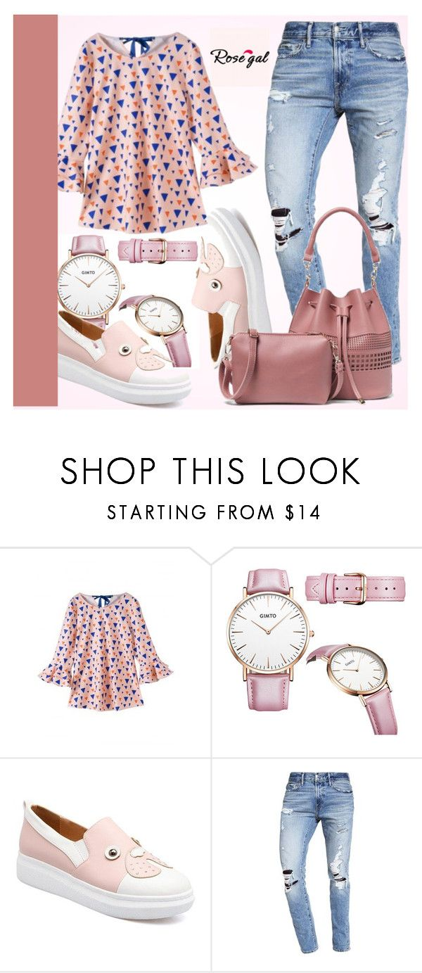"""MY PINK LOOK- ROSEGAL 68"" by e-mina-87 ❤ liked on Polyvore featuring Abercrombie & Fitch"