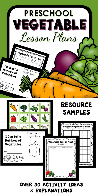 Vegetable Theme Preschool Classroom Lesson Plans