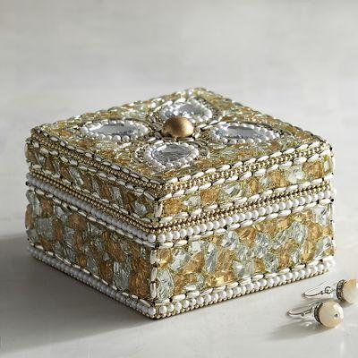 Gold Bejeweled Jewelry Box   Pier 1 Imports   Jewelry box ...