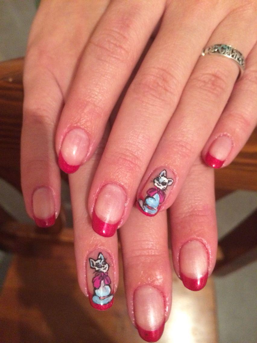 Маникюр+ Shellac+роспись акриловыми красками | Дизайн ногтей ...