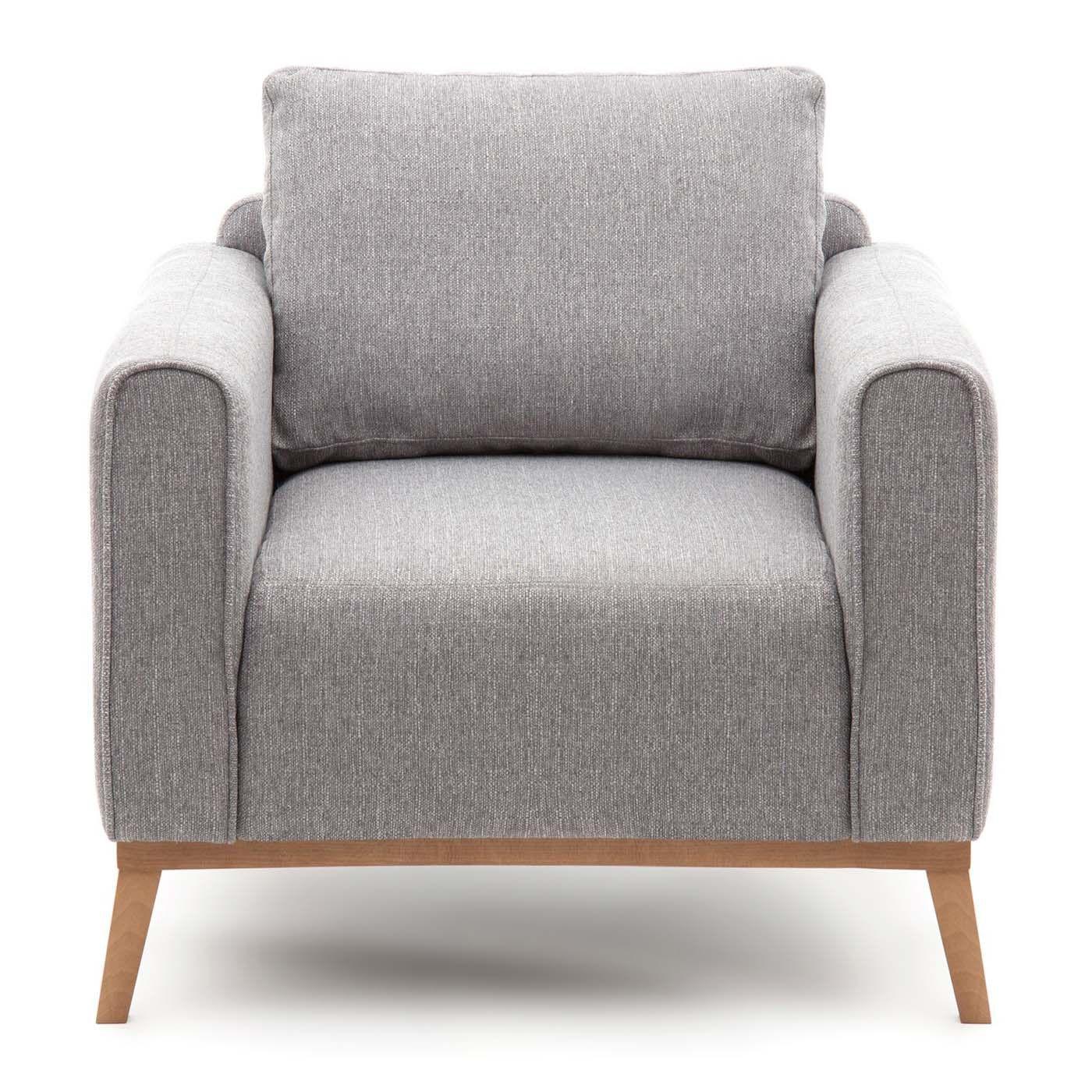 Fotel Na Nóżkach Szary Styl Skandynawski Fotele Sofy I