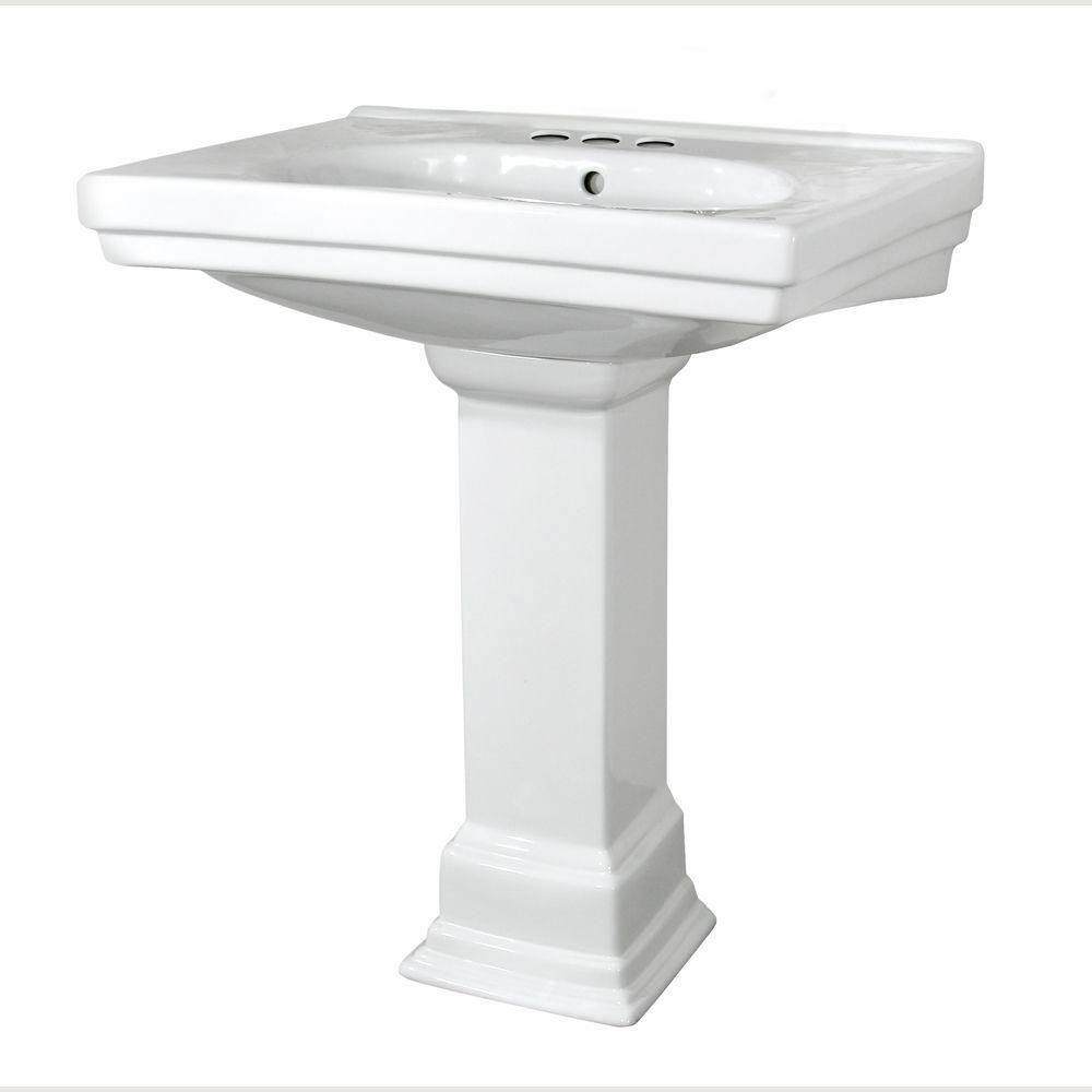 Structure Vitreous China Pedestal Bathroom Basin Combo In White Our First Home Pedestal Sink Pedestal Basin Bathroom Basin