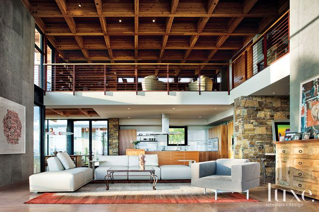 This Tongue And Groove Redwood Ceiling Conceals Insulation, Pipes And  Mechanical Apparatus For
