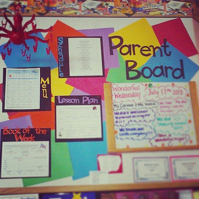 Home Daycare Design Ideas: Parent Information Board
