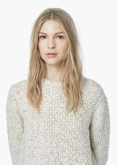 Wool-blend knit sweater