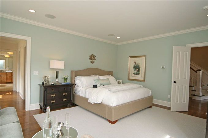 """benjamin moore """"palladian blue"""" in the master   new house paint"""