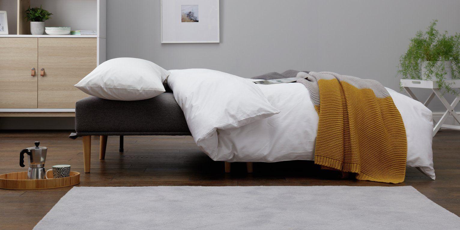 Argos Home Neyo 2 Seater Fabric Sofa Bed Grey In 2020 Grey Sofa Bed Sofa Bed Home