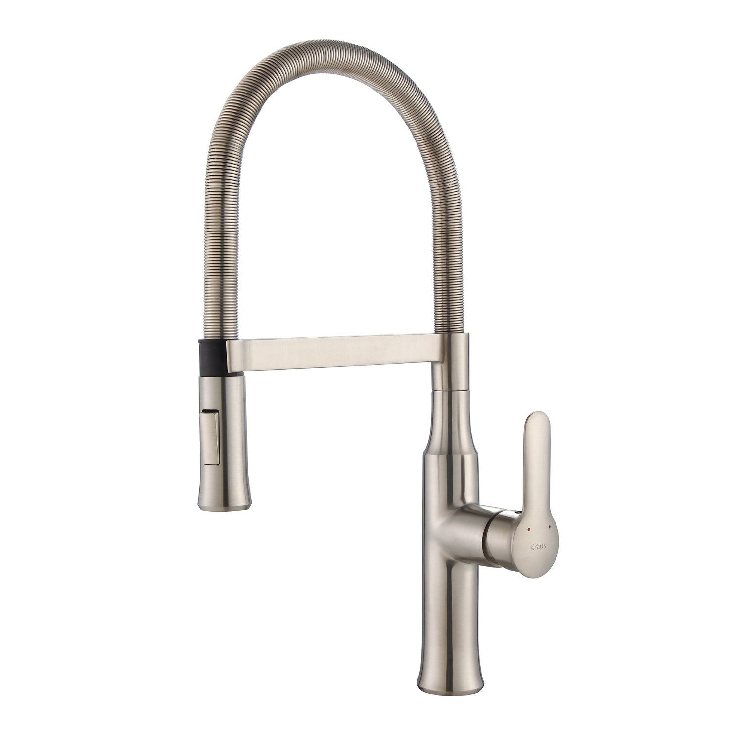 Kraus KPF-1640SS Modern Nola Single Lever Flex Commercial Style ...