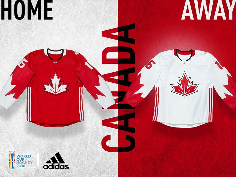 Jerseys Unveiled For The World Cup Of Hockey Hockey World Cup Hockey Team Canada Hockey