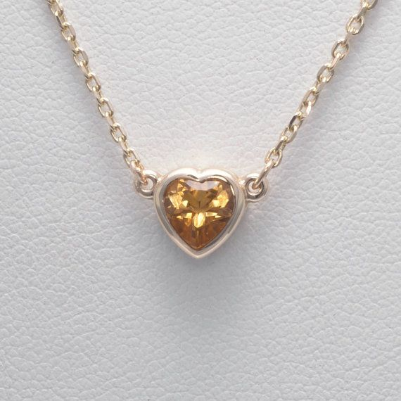 14k citrine heart necklace 14kt gold heart pendant by donna pizarro 14k citrine heart necklace 14kt gold heart pendant by donna pizarro from her gold heart mozeypictures Image collections