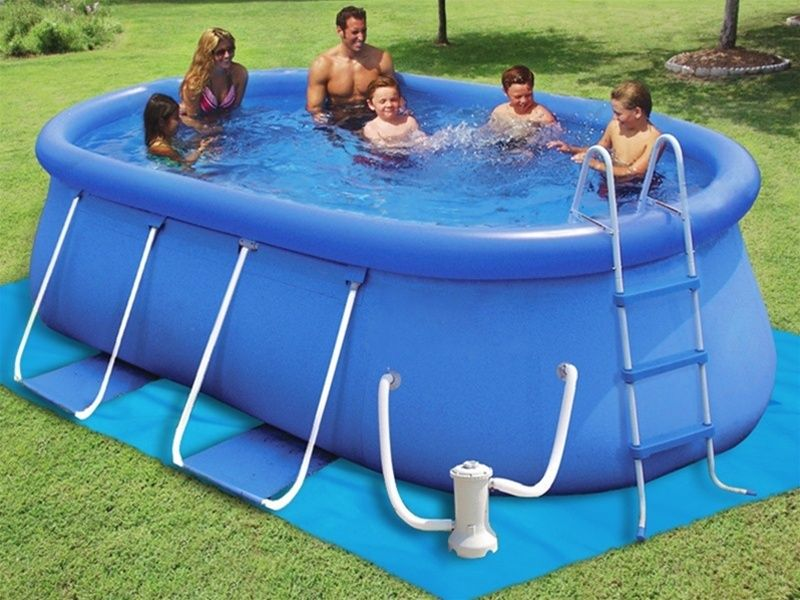 X X Float To Fill™ Oval Swimming Pool   Backyard Ocean