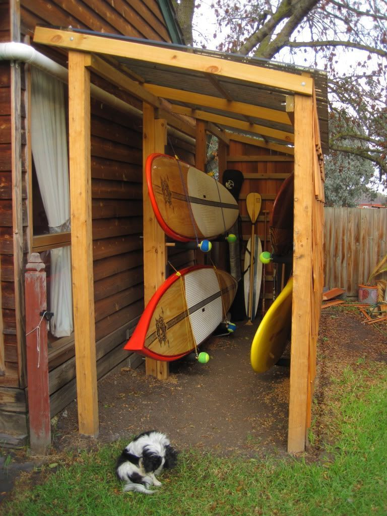 kayak storage, saw this on a paddling forum years ago and have been dreaming about it ever since ...