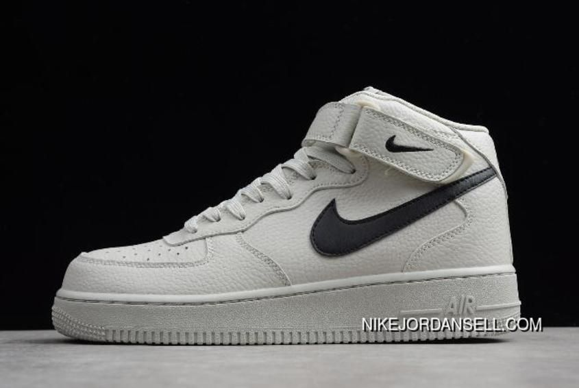 in stock 6d481 2b4f7 Men s And Women s Nike Air Force One Mid  07 Light Bone Black Discount