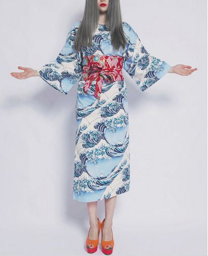 Perdido en japonés tradicional pintura la gran por PurpleFishBowl2