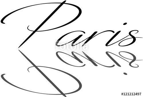 """Paris text Sign"" creato da morgan capasso"