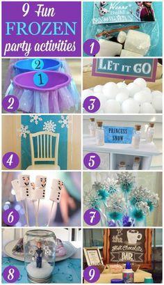 9 Fun Frozen Party Activities Frozen party activities Party