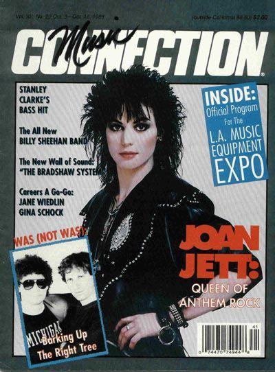 Joan Jett, October 1988, Music Connection Magazine Cover.