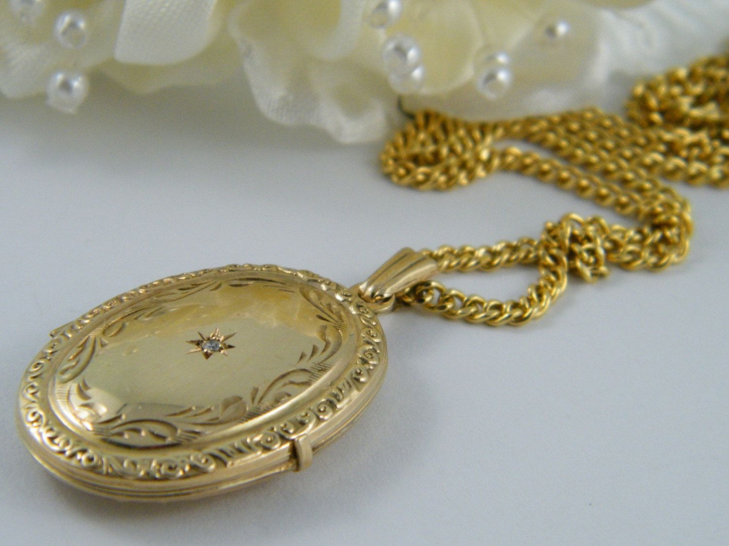 solid pin locket ct rose vs cut with gold lockets victorian diamond antique
