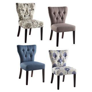 Monsoon Bellcrest Button tufted Upholstered Dining Chairs  Set of   Monsoon Bellcrest Button tufted Upholstered Dining Chairs  Set of 2   Steel  Grey Linen   Faux Leather . Armless Living Room Chairs. Home Design Ideas