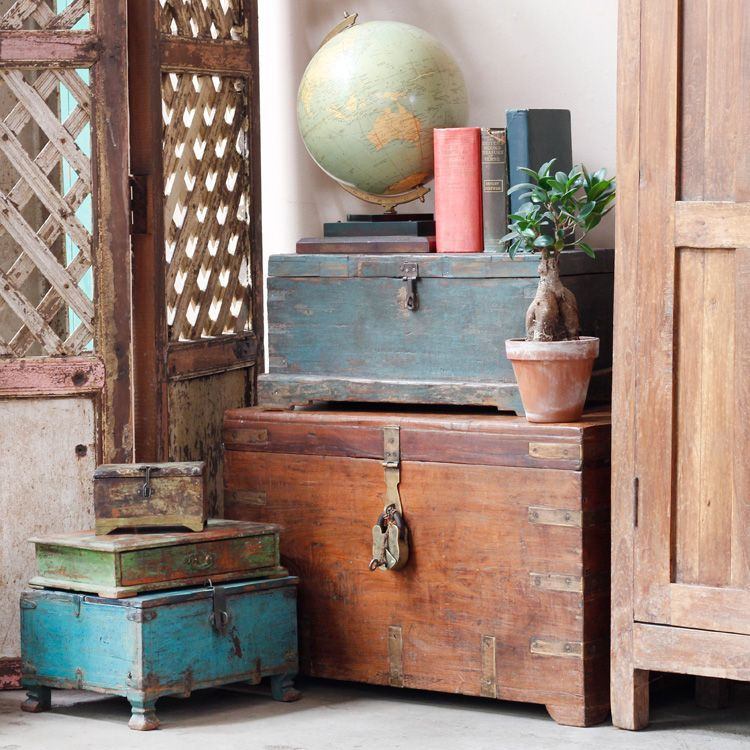 vintage colonial style with old chests | Home decor | Pinterest ...