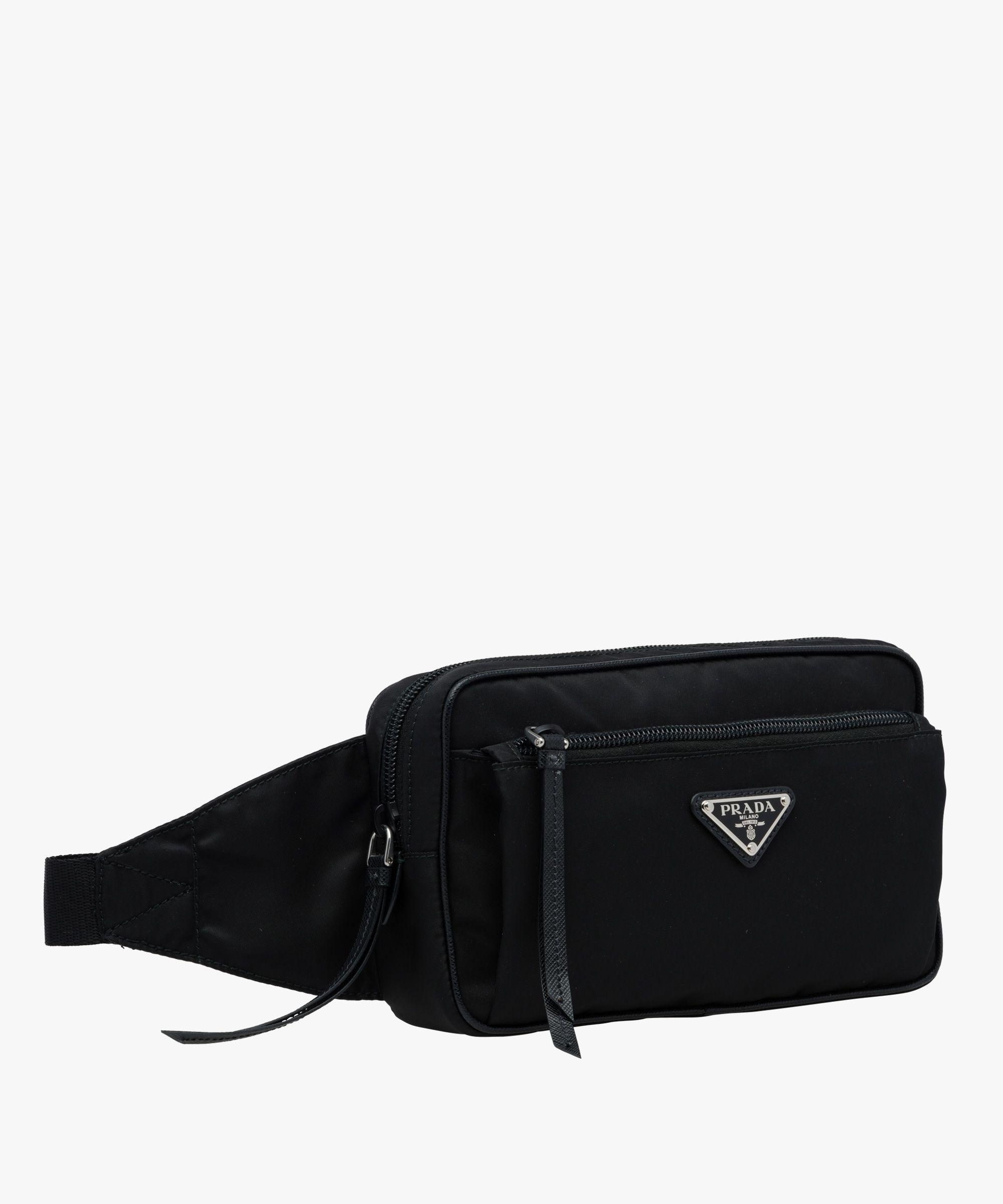 Prada - Nylon and leather belt bag   BAGS   Bags, Leather belt bag ... f148f5efd2