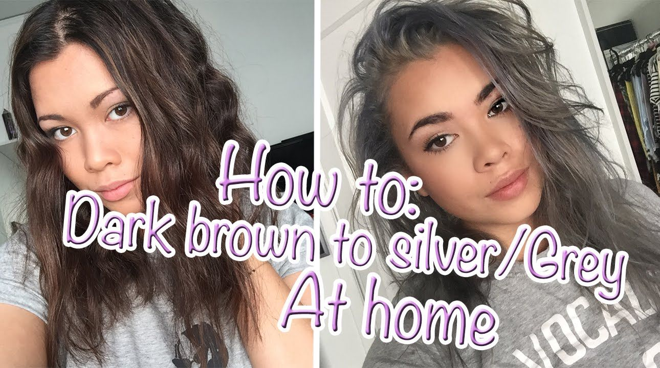❤ HOW TO: Go from Dark brown to Silver/Grey hair at home ...
