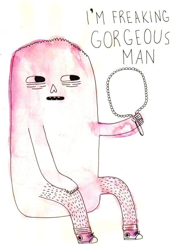 Amber Zuniga/Amber the Human - I'm freaking georgeous man (Illustrations for Cool Squares)