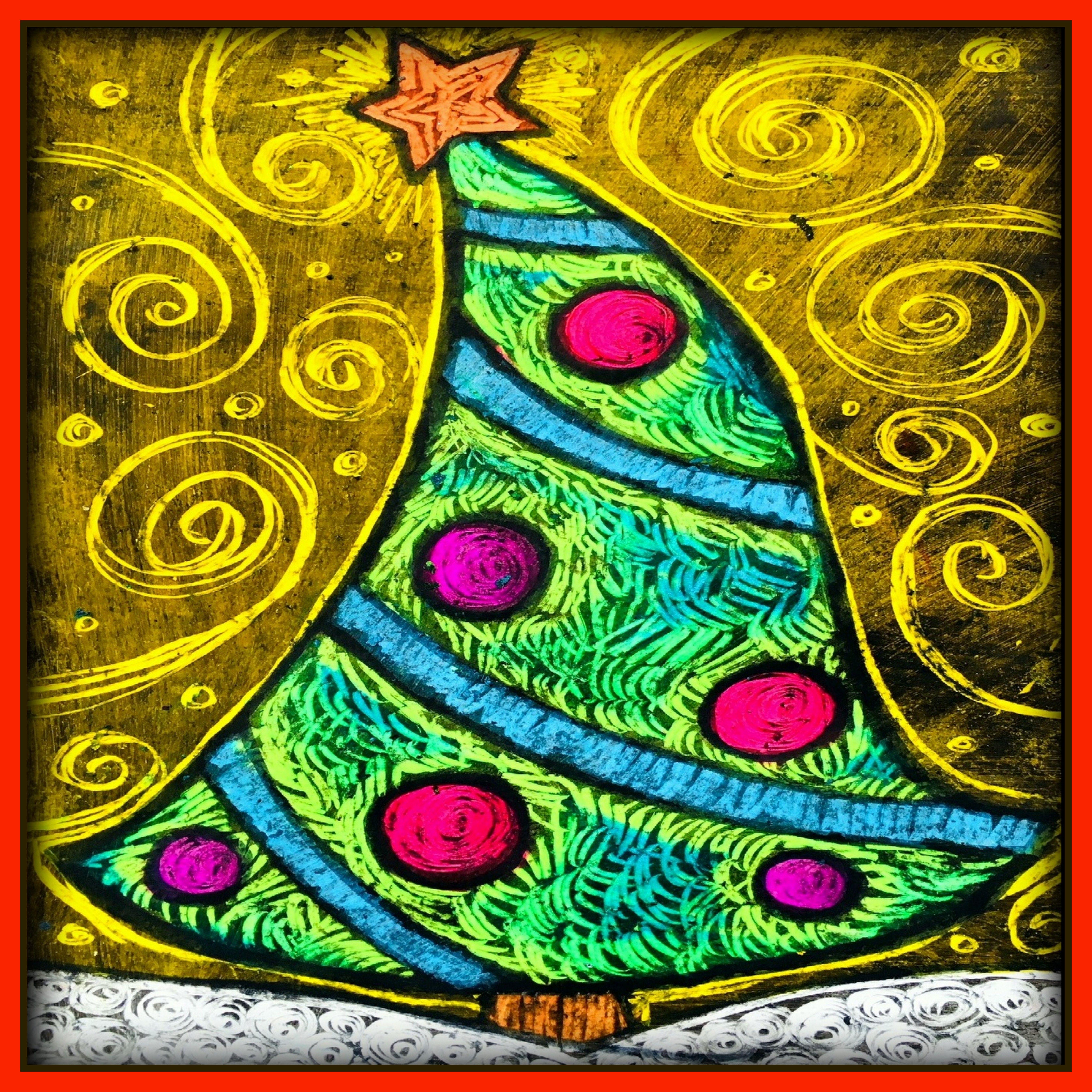 Christmas Art Lesson Plan : Oh Christmas Tree ! | Art, Art plastique et Noel christmas