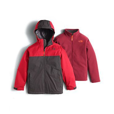 05892ea1d631 The North Face Boys  Chimborazo Triclimate Hooded Rain Fleece Jacket  Kids