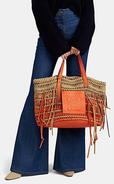 8f4eec1de LOEWE Woven Leather & Suede Tote Bag - Tote Bags - 506051166   Tote ...