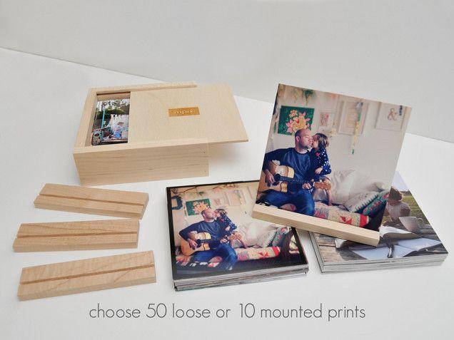 Thumbprint Photo Box Unique And Stylish Photo Storage By Mpix Mpix Photo Box Corporate Gifts Photo Storage