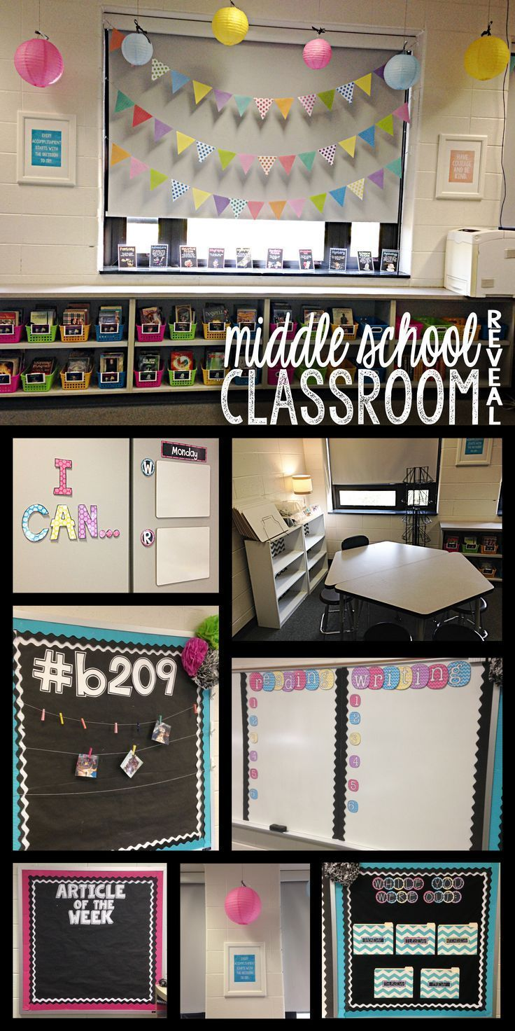 Classroom Decorations Bulletin Board Set ~ Middle school classroom reveal pictures
