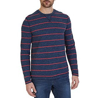 Nautica® Men's Long Sleeve Yard Stripe Henley Shirt