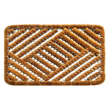 Twisted Spiral Cross Hatch Boot Scraper Import Decor Contemporary Door Mats Door Mat
