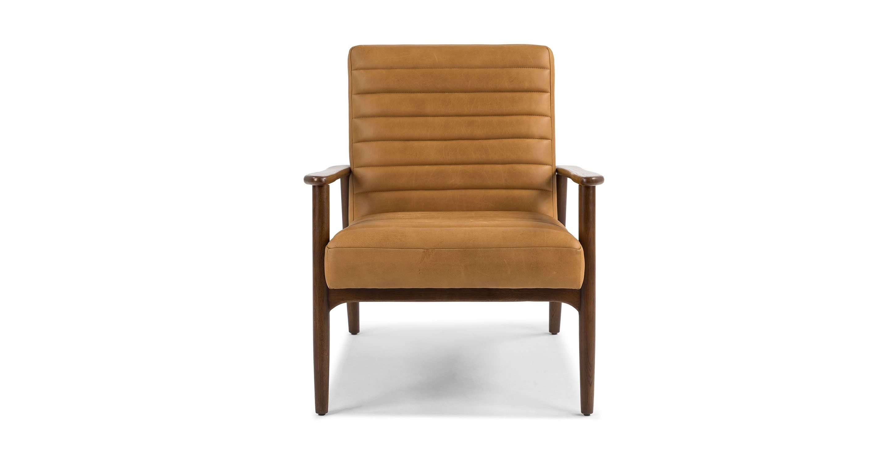 Tan Leather Chair Upholstered