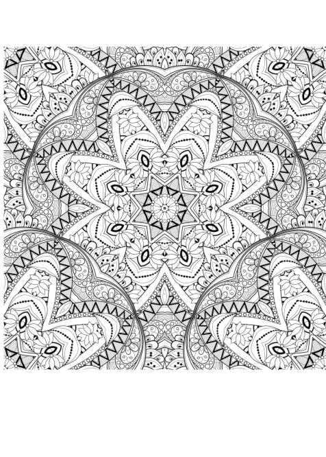 Ausmalbild Muster malen für Erwachsene | Malbuch | Pinterest ...