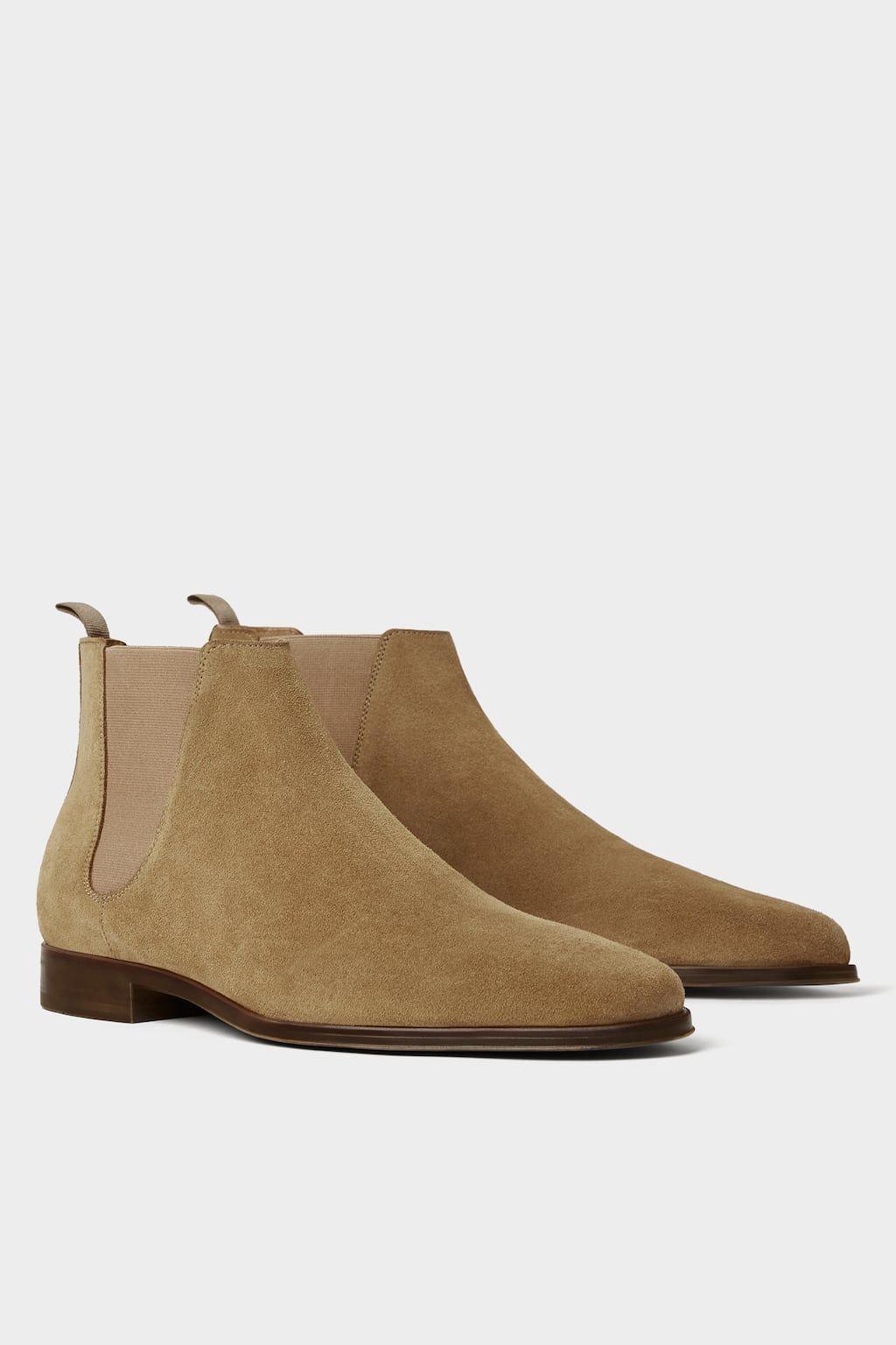 Beige Sport Leather Ankle Boot View All Shoes Man Zara United States Sapogi Muzhskie Botinki Kozhanye Botilony