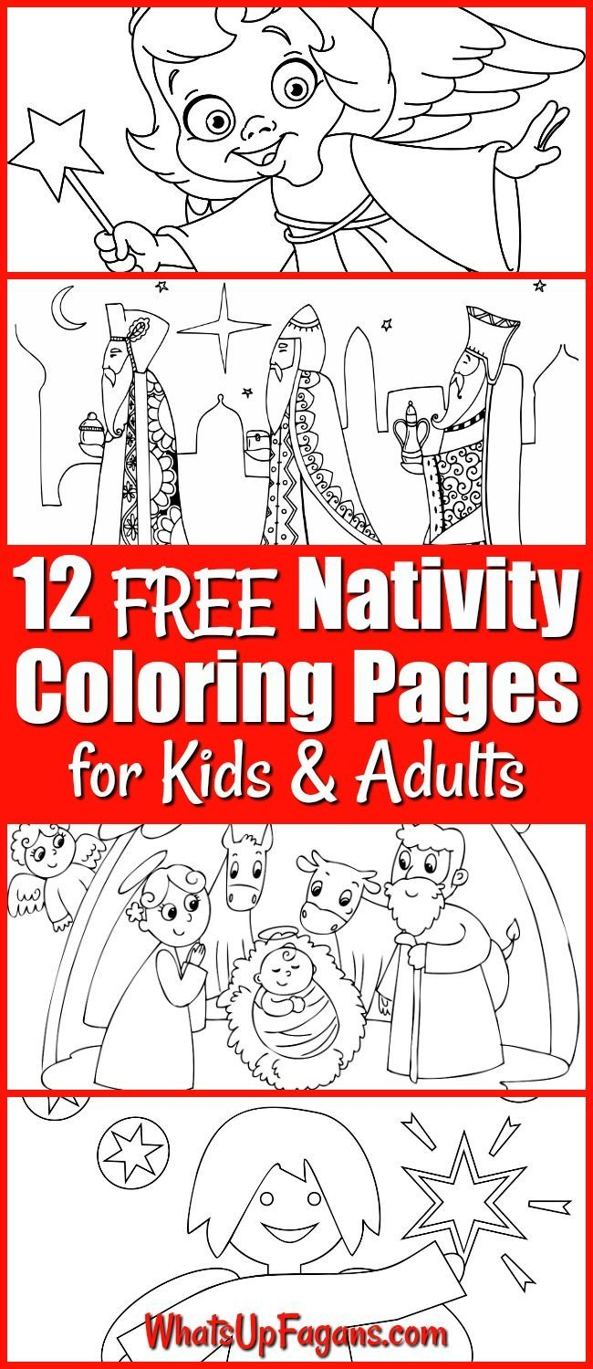 12 FREE Printable Nativity Coloring Pages for Kids | Christmas ...