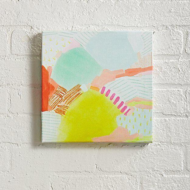 Citron Mountain Wall Art   The Land of Nod   Art   Pinterest ...