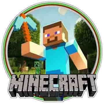 Minecraft Video Game Logo Steve With Pick Order One 2 X2 Vinyl Sticker Free Of Charge Pickup Is Vinyl Sticker Minecraft Party Decorations Minecraft Party