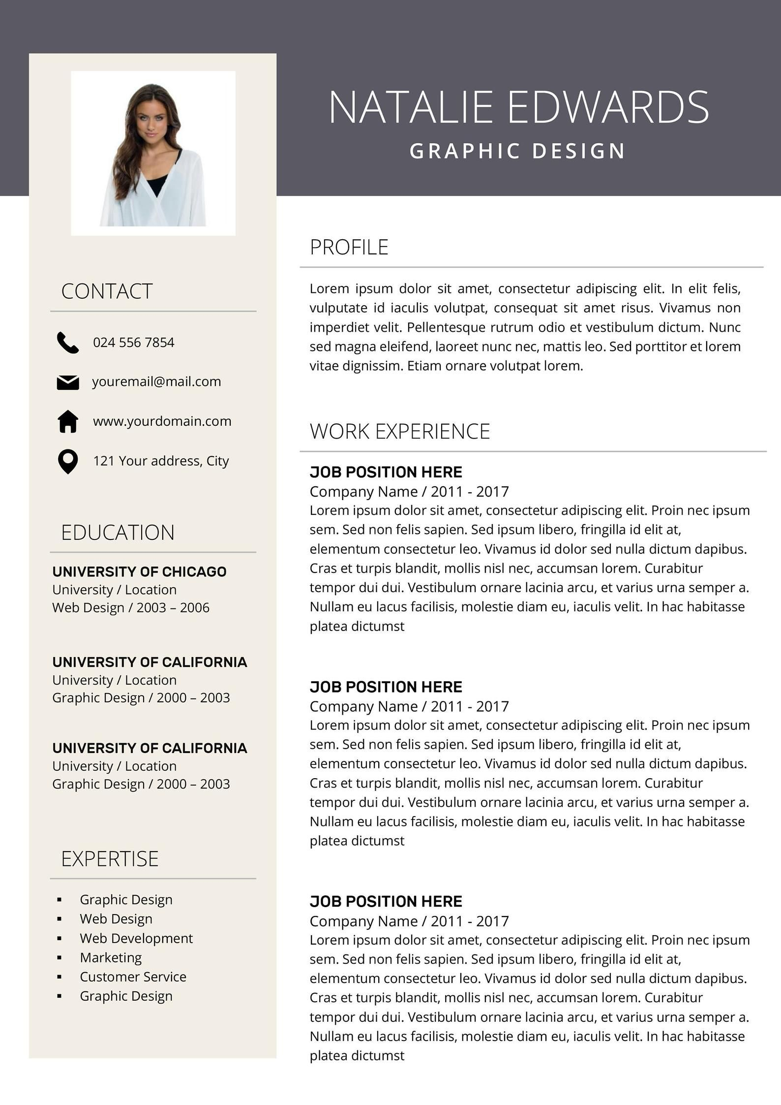 Creative Resume Template Cv Template For Ms Word And Pages Etsy In 2020 Creative Resume Modern Resume Design Resume Template Professional