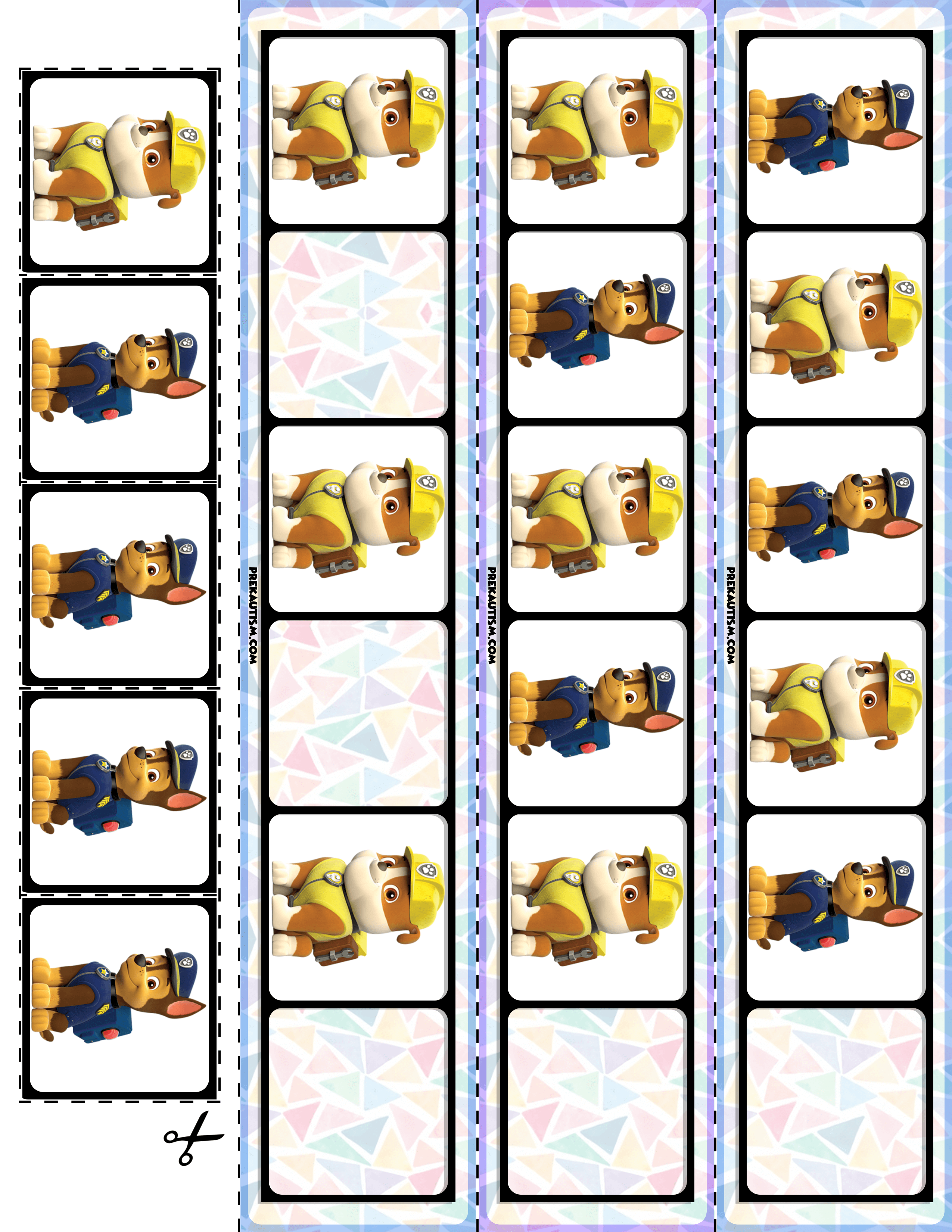 Free Paw Patrol Printable Materials